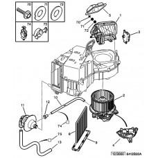 Peugeot 206 fűtésszabályzó elektronika